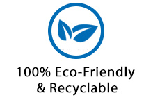 100% Eco-Friendly & Recyclable